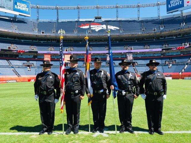 Honor Guard at Broncos Game