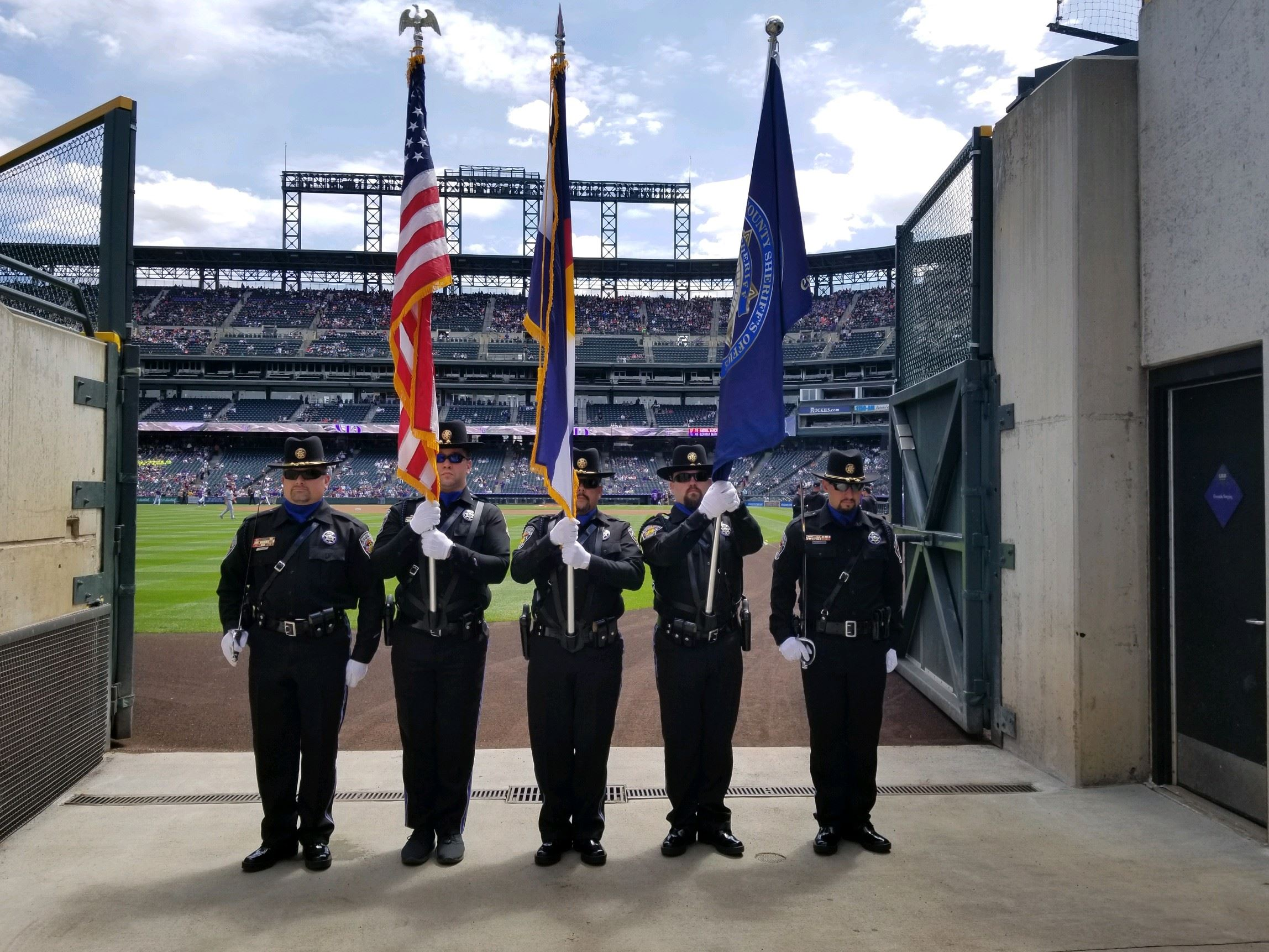 Honor Guard at Rockies Game